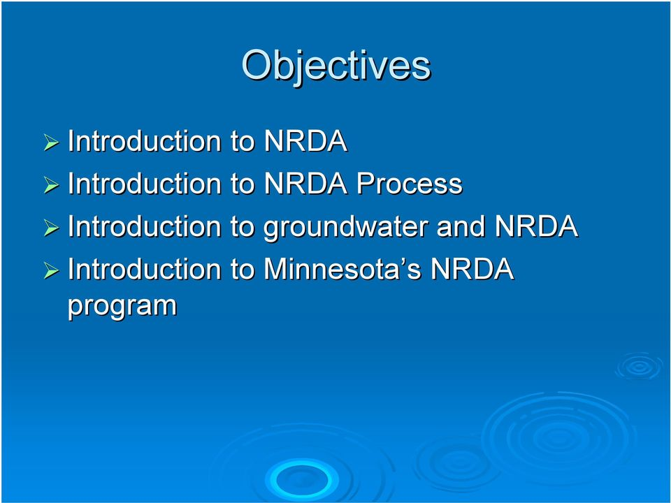 Introduction to groundwater and