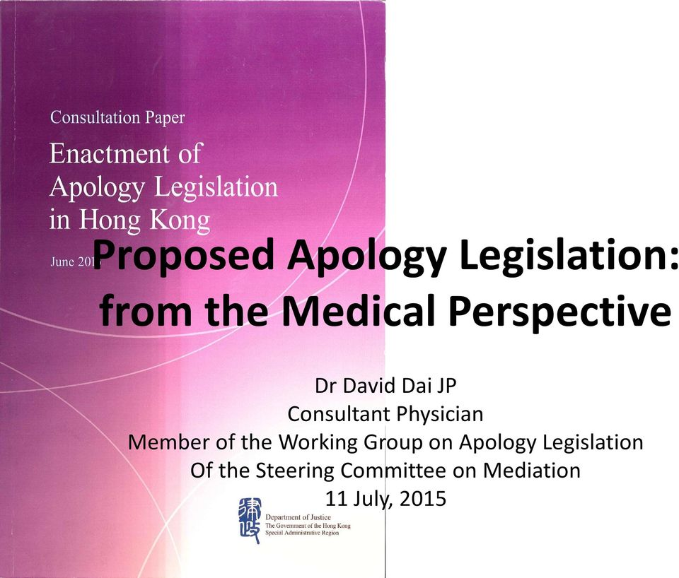 Member of the Working Group on Apology