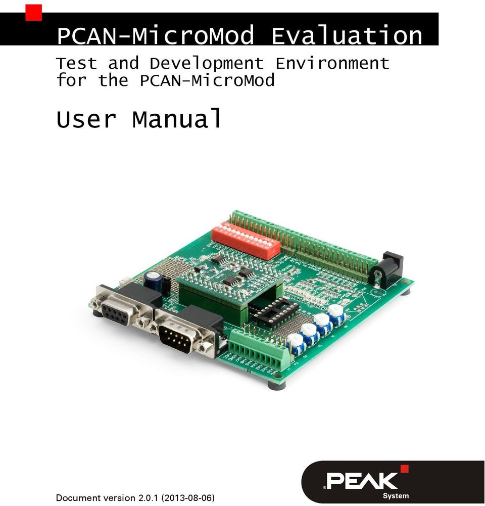 for the PCAN-MicroMod User