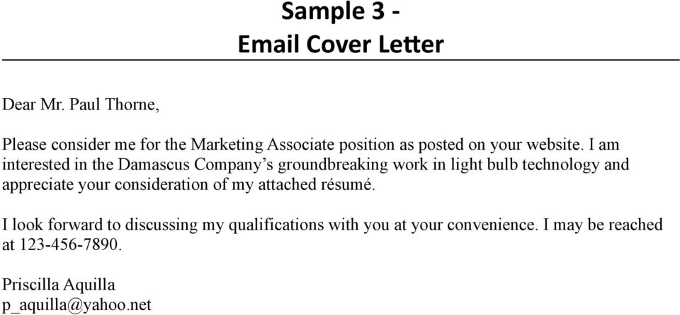 An Instructional Guide To Writing Effective Cover Letters