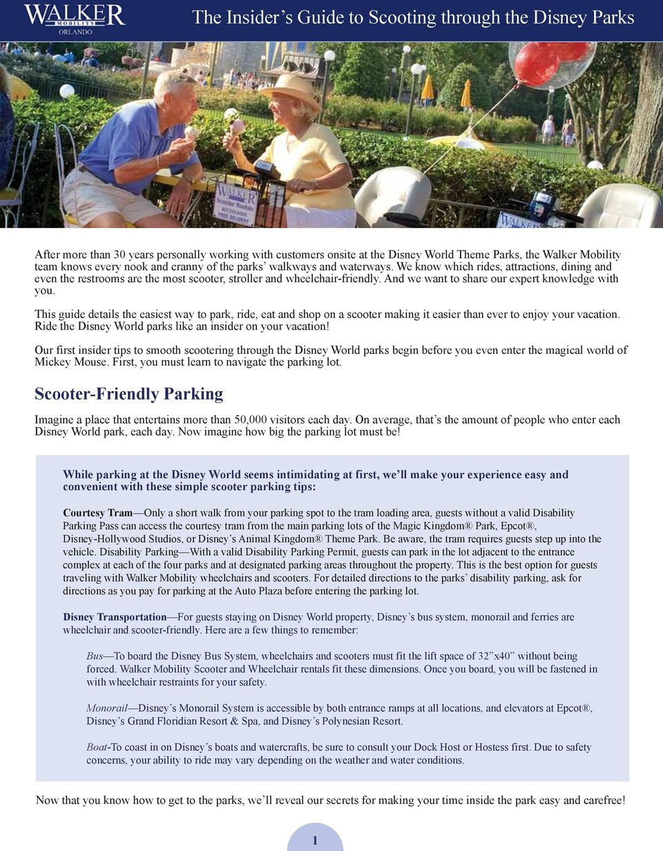 THE INSIDER S GUIDE TO SCOOTING THROUGH THE DISNEY PARKS - PDF