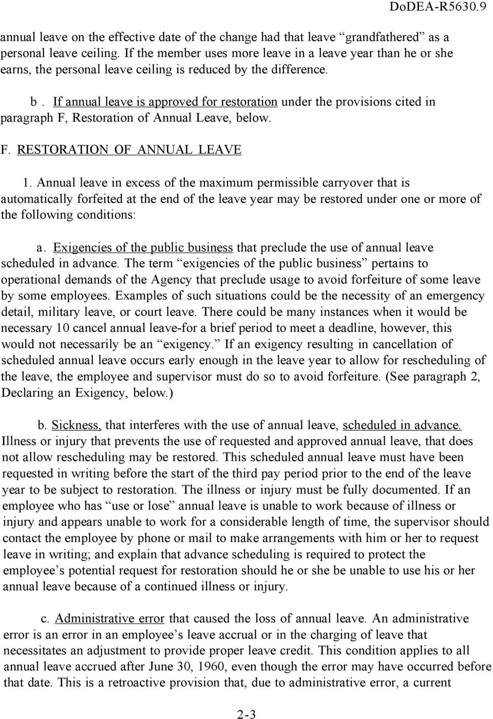 If annual leave is approved for restoration under the provisions cited