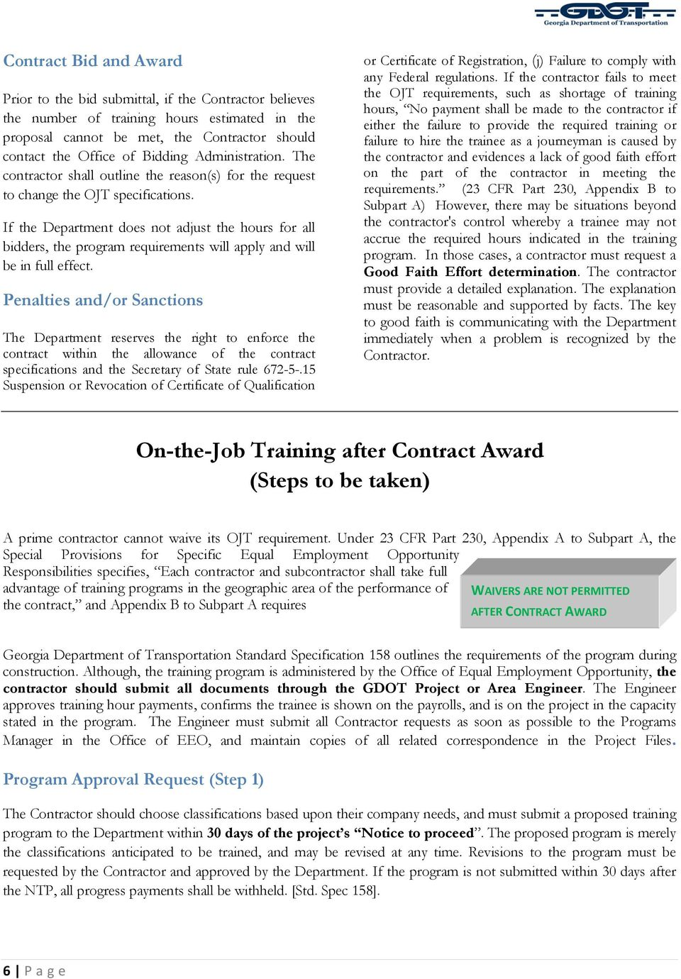 On-the-Job Training  Office of Equal Opportunity Employment