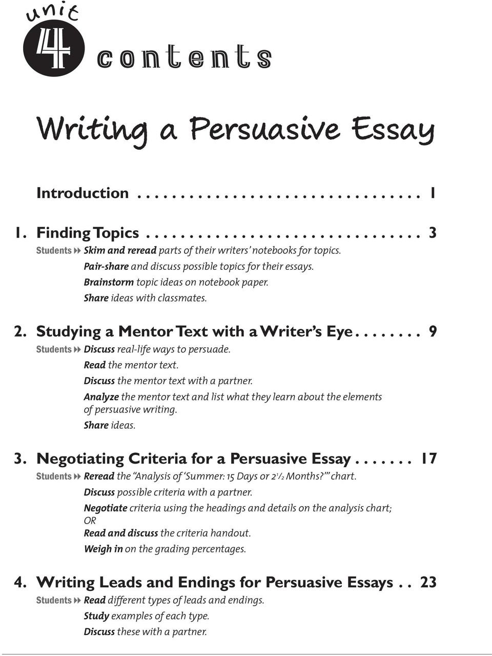 Public service commission essay summary report