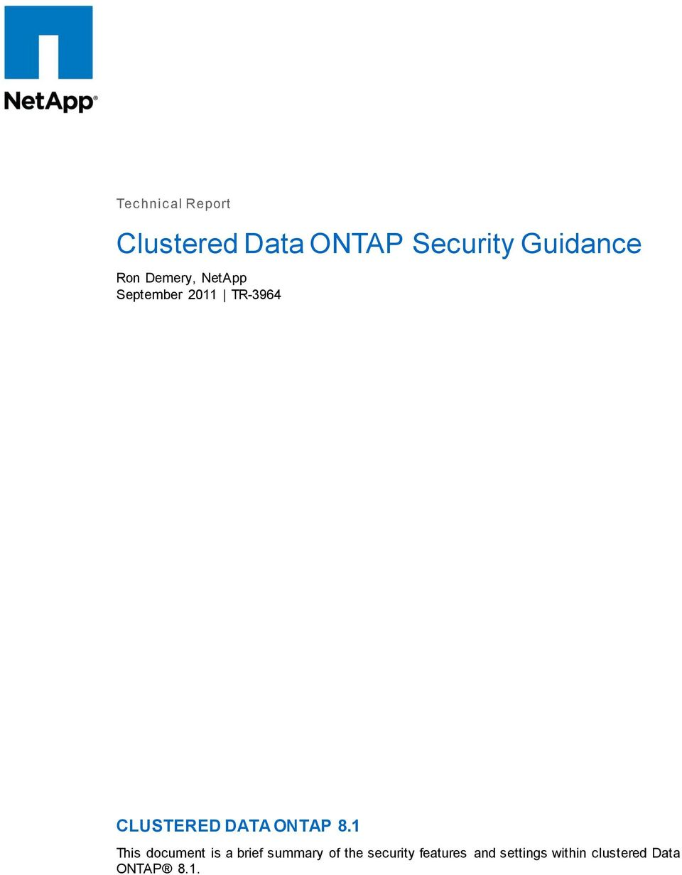 clustered data ontap security guidance pdf rh docplayer net