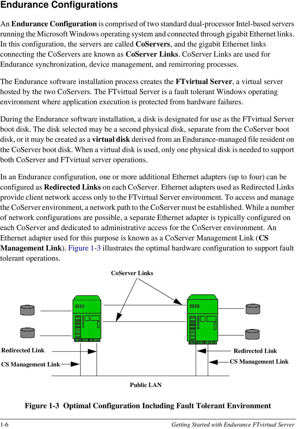 CoServer Links are used for Endurance synchronization, device management, and remirroring processes.