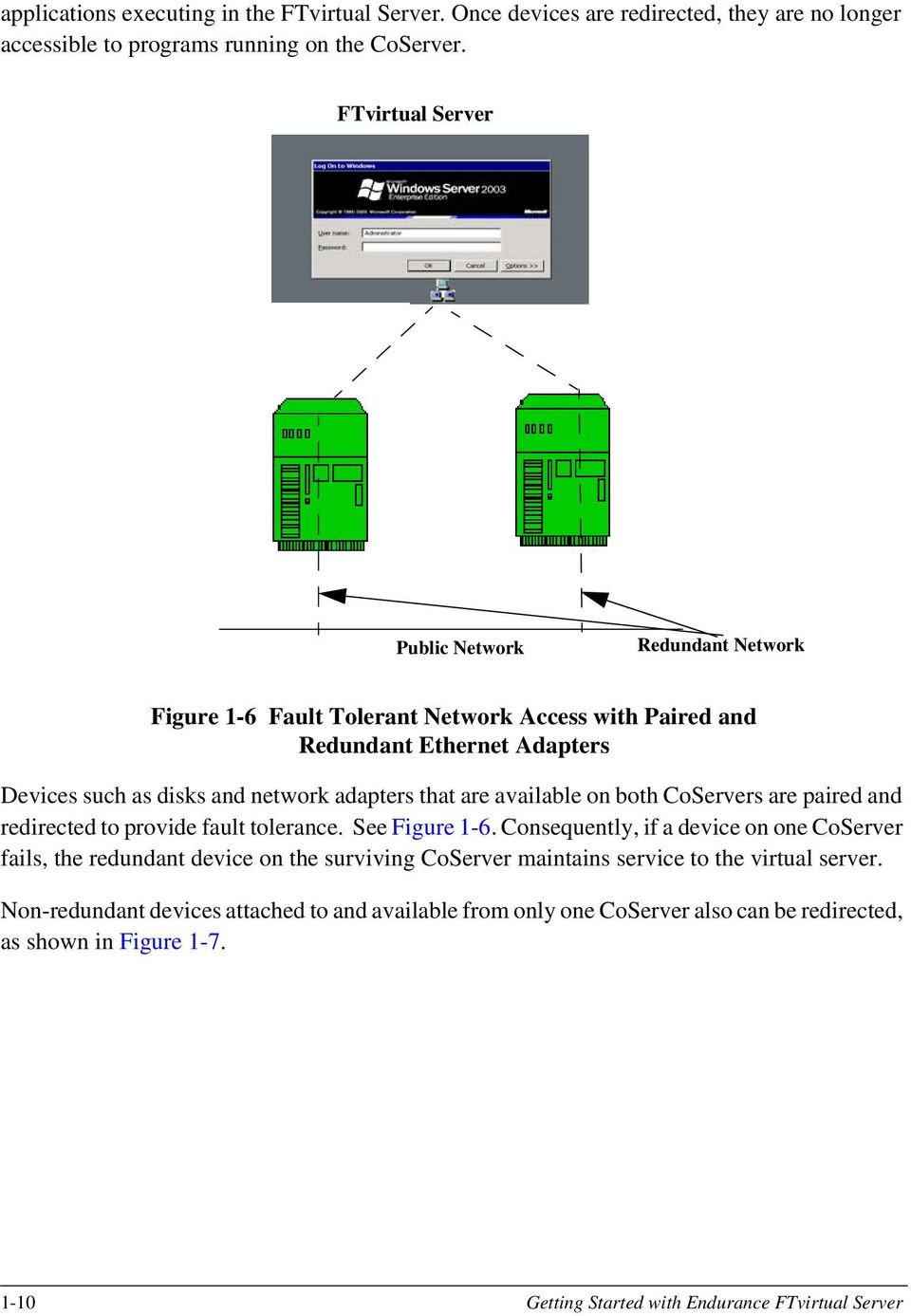 are available on both CoServers are paired and redirected to provide fault tolerance. See Figure 1-6.