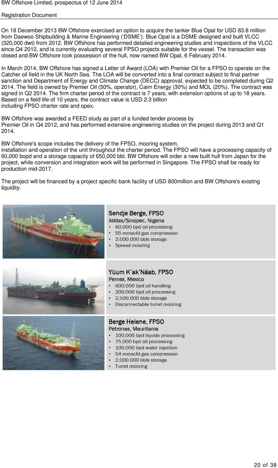 Prospectus  BW Offshore Limited  Registration Document  BW
