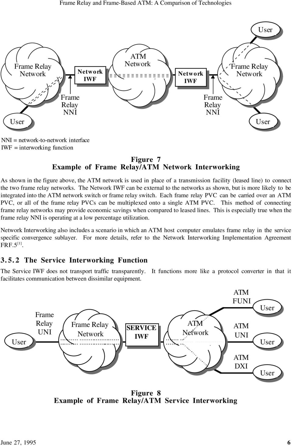 Frame Relay And Based Atm A Comparison Of Technologies Pdf Switch Example The Iwf Can Be External To Networks As Shown But Is More Likely