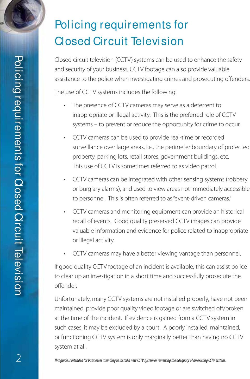 Policing requirements for Closed Circuit Television - PDF