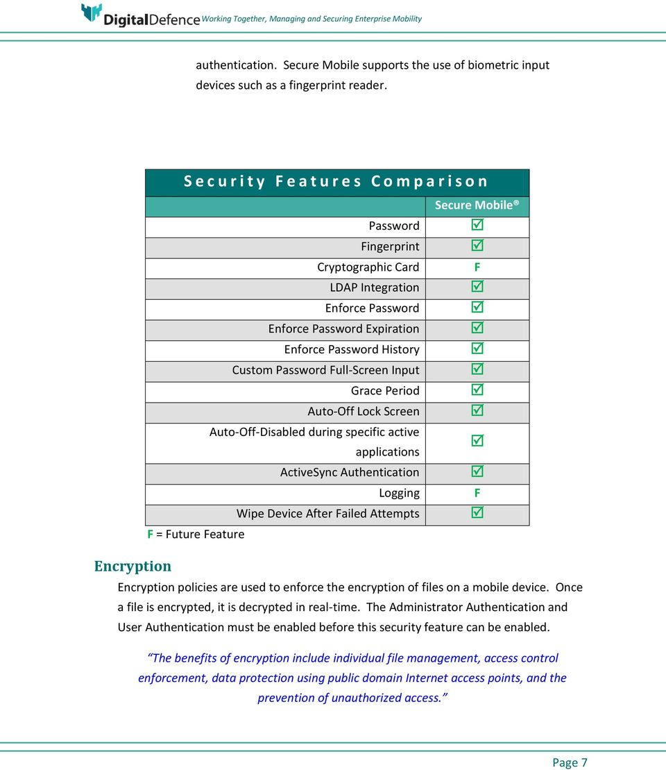 Working Together Managing and Securing Enterprise Mobility WHITE