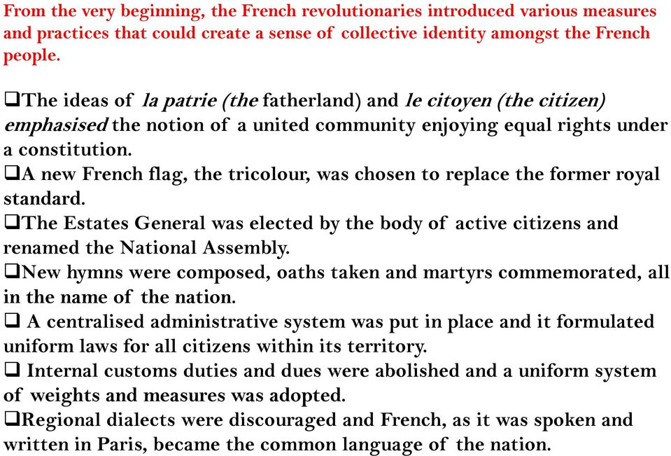 The French Revolution and the Idea of the Nation - PDF