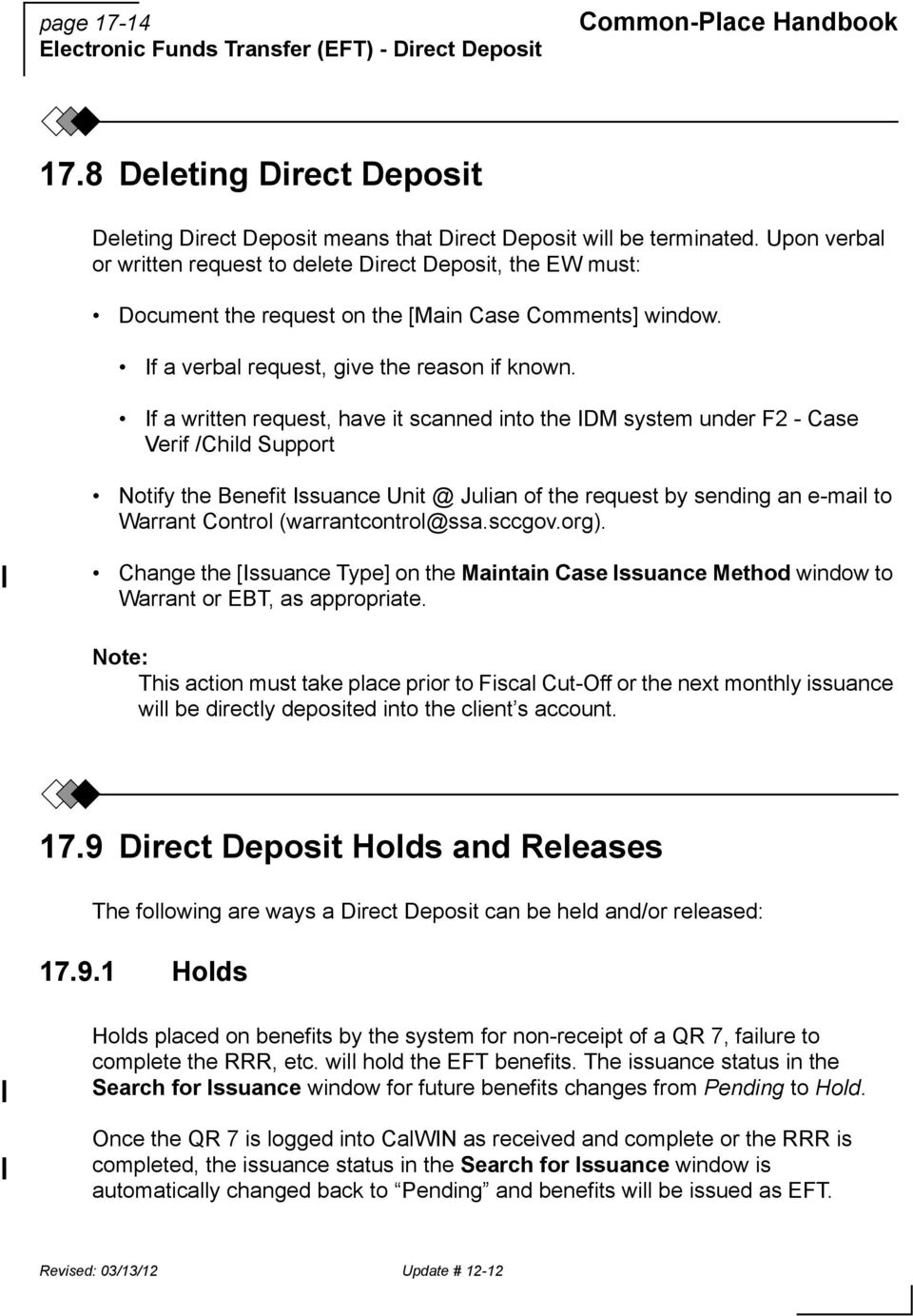 17. electronic funds transfer (eft) - direct deposit - pdf