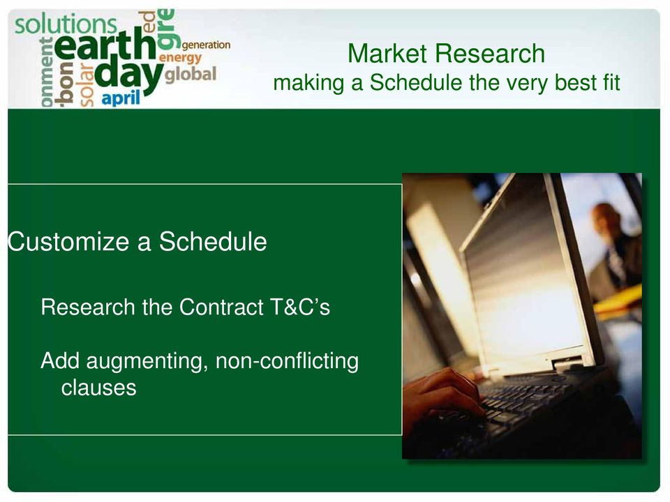 Schedule Research the Contract T&C