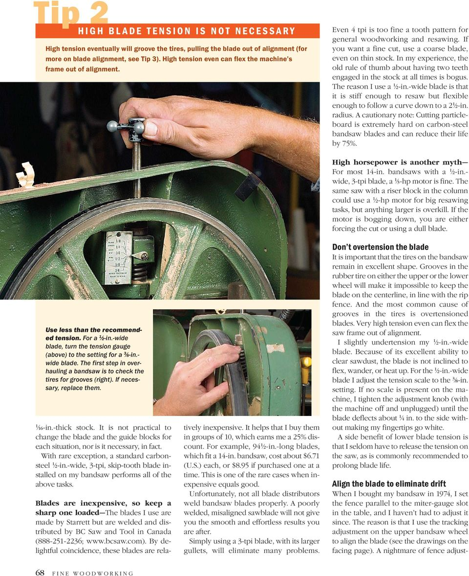 Bandsawing  Five Tips for Better  No-hassle approach
