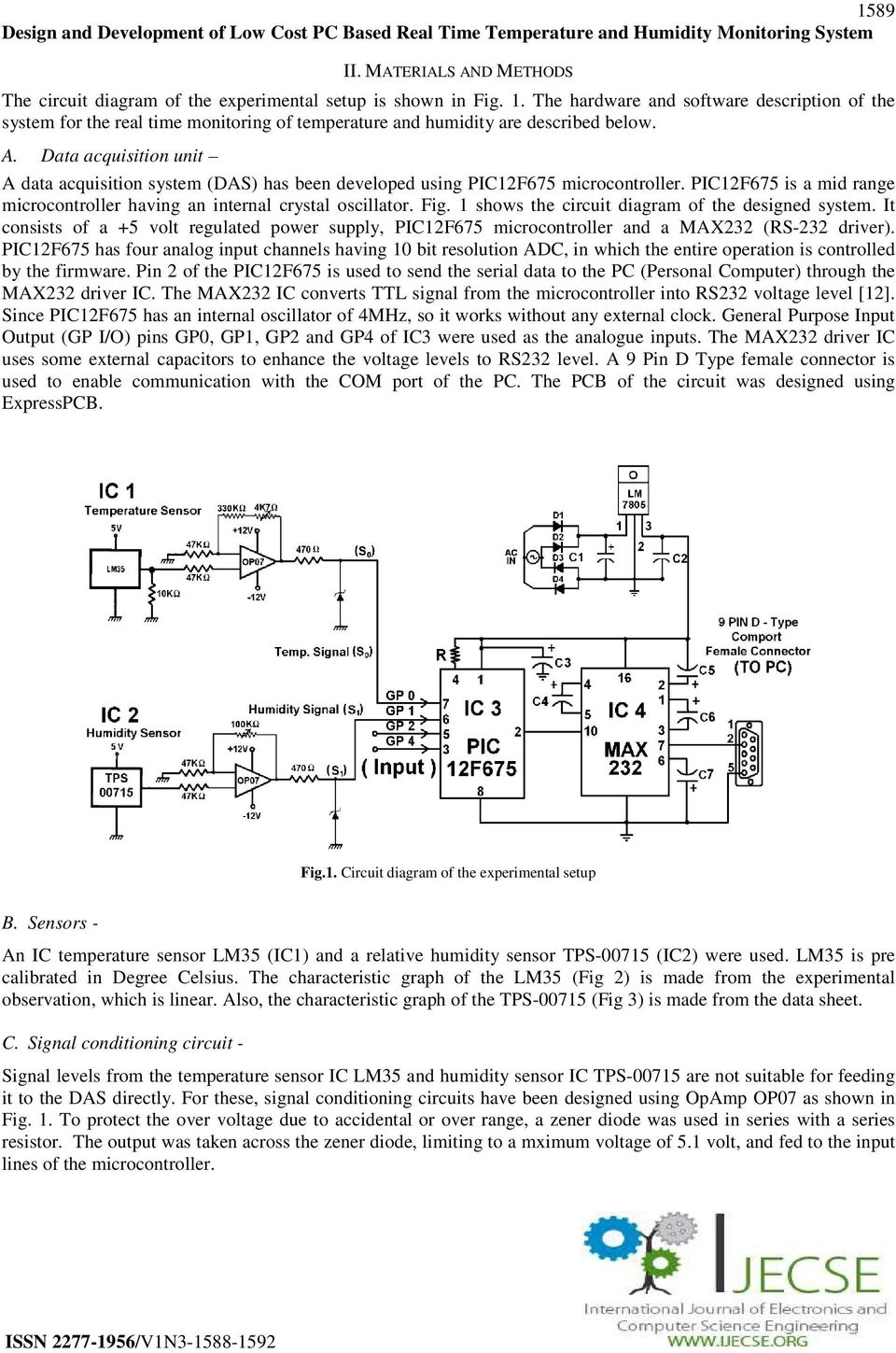 International Journal Of Electronics And Computer Science Logic Psu With Overvoltage Protection By Ic 7805 Data Acquisition Unit A System Das Has Been Developed Using Pic12f675 Microcontroller