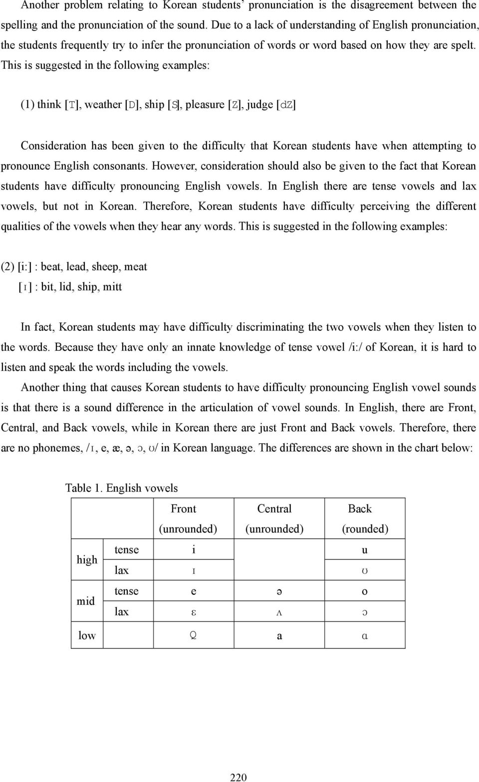 The Phonological Role in English Pronunciation Instruction - PDF