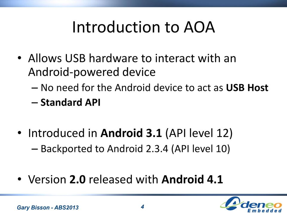 Leveraging the Android Accessory Protocol - PDF