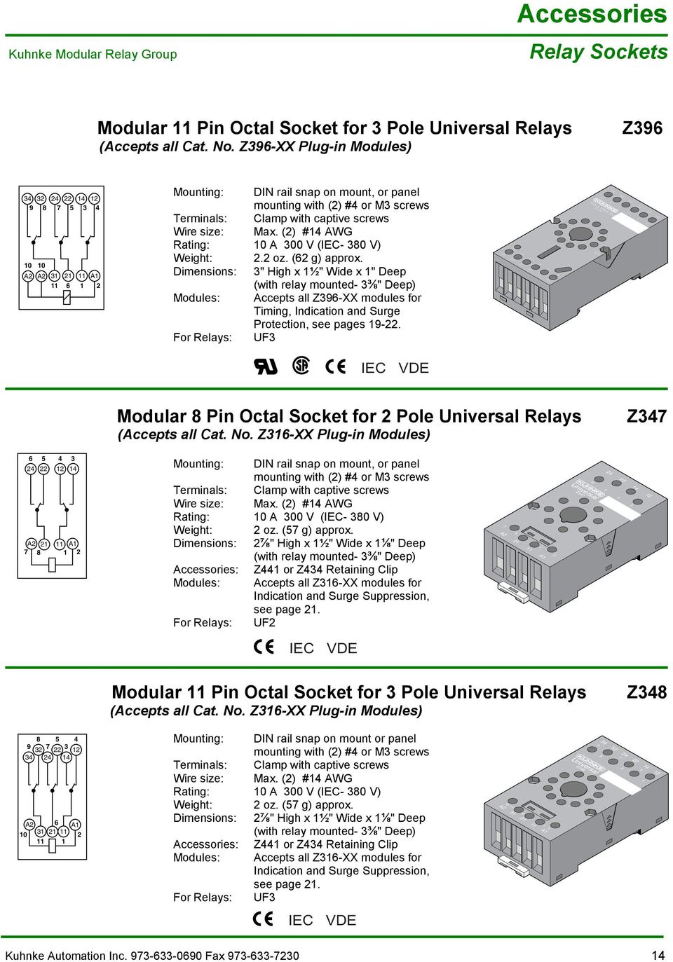 Kuhnke Technical Data Contact Details Pdf Relay Wiring Diagram 90 380 Heavy Duty Awg Rating A 300 V Iec Weight