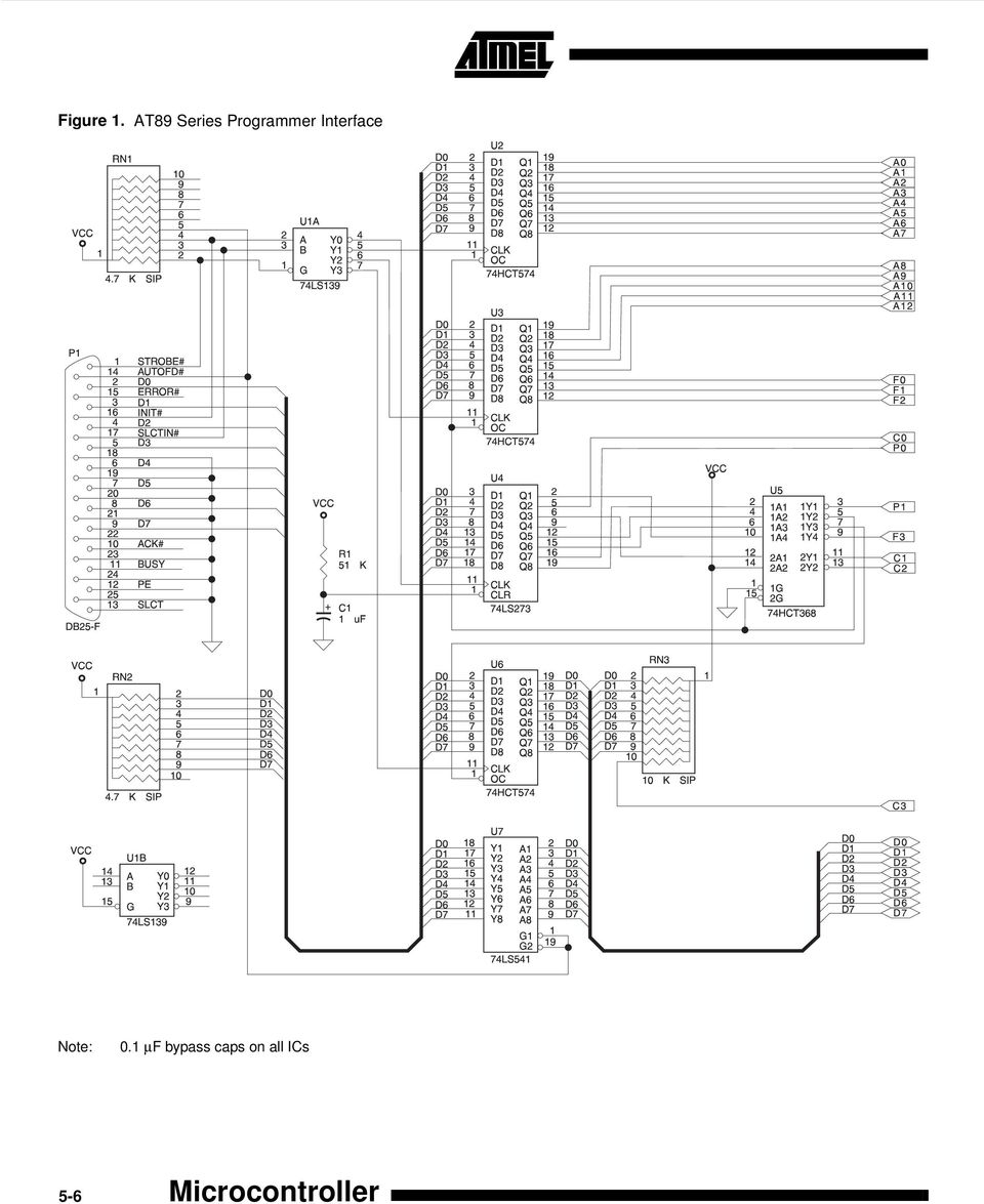 8 Bit Microcontroller With Flash Application Note Using A Personal Servo Motor Control Through Keypad 8051 At89c51 Programmer
