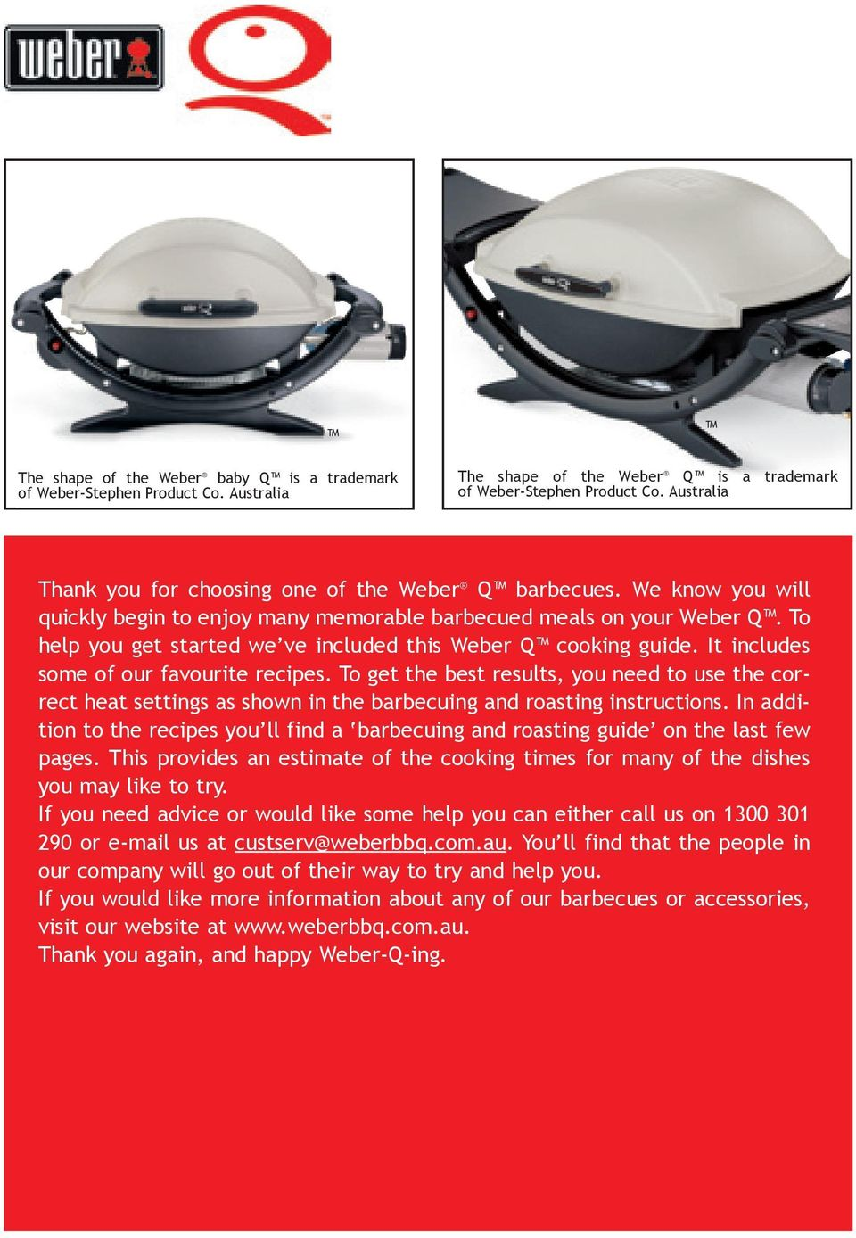 Australian Cooking With The Weber Or Baby Q Pdf Trivet Barbeque To Help You Get Started We Ve Included This Guide It Includes