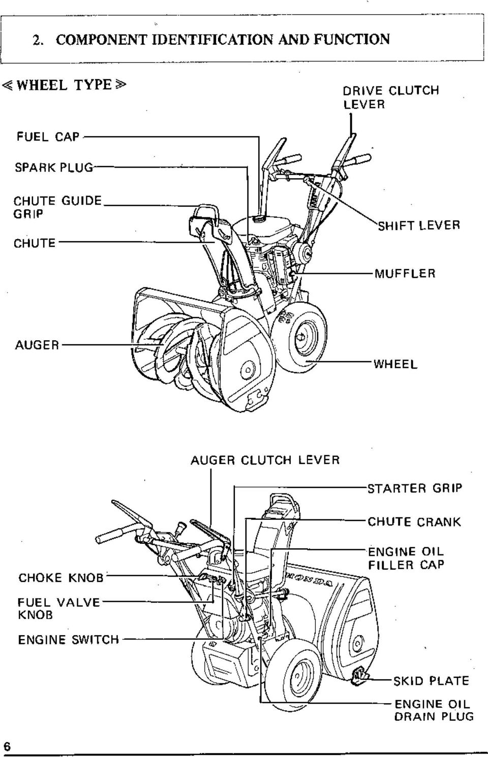 Diagram Of Honda Snow Blower Parts Hs55 Wa Snow Blower Jpn Vin Hs55