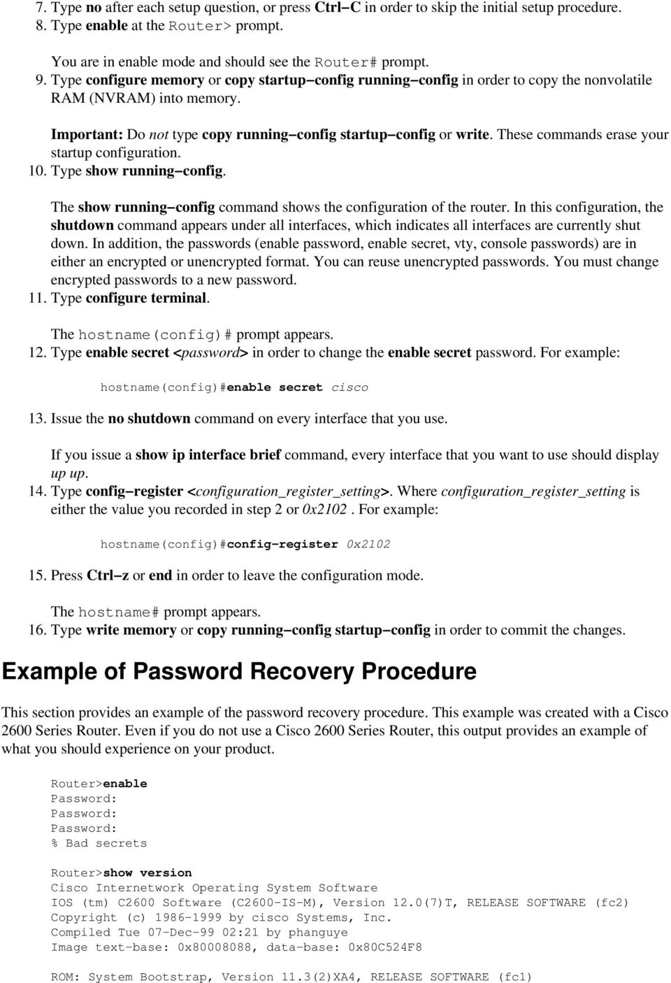 Password Recovery Procedure for the Cisco 806, 826, 827, 828