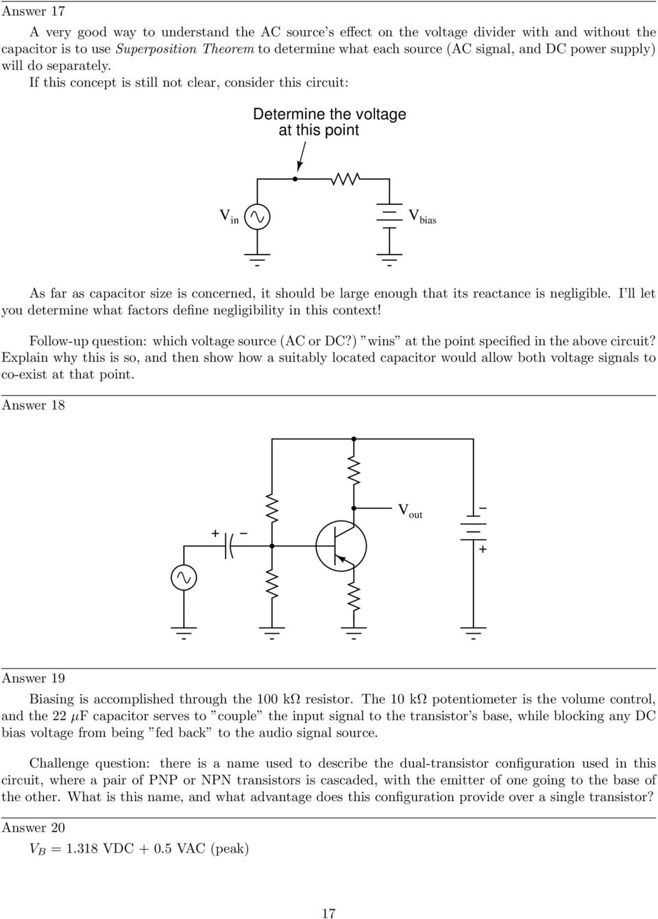 Bipolar Transistor Biasing Circuits Pdf Diagram B A Shows An Npn Which Is Often Used As If This Concept Still Not Clear Consider Circuit Determine The Voltage At