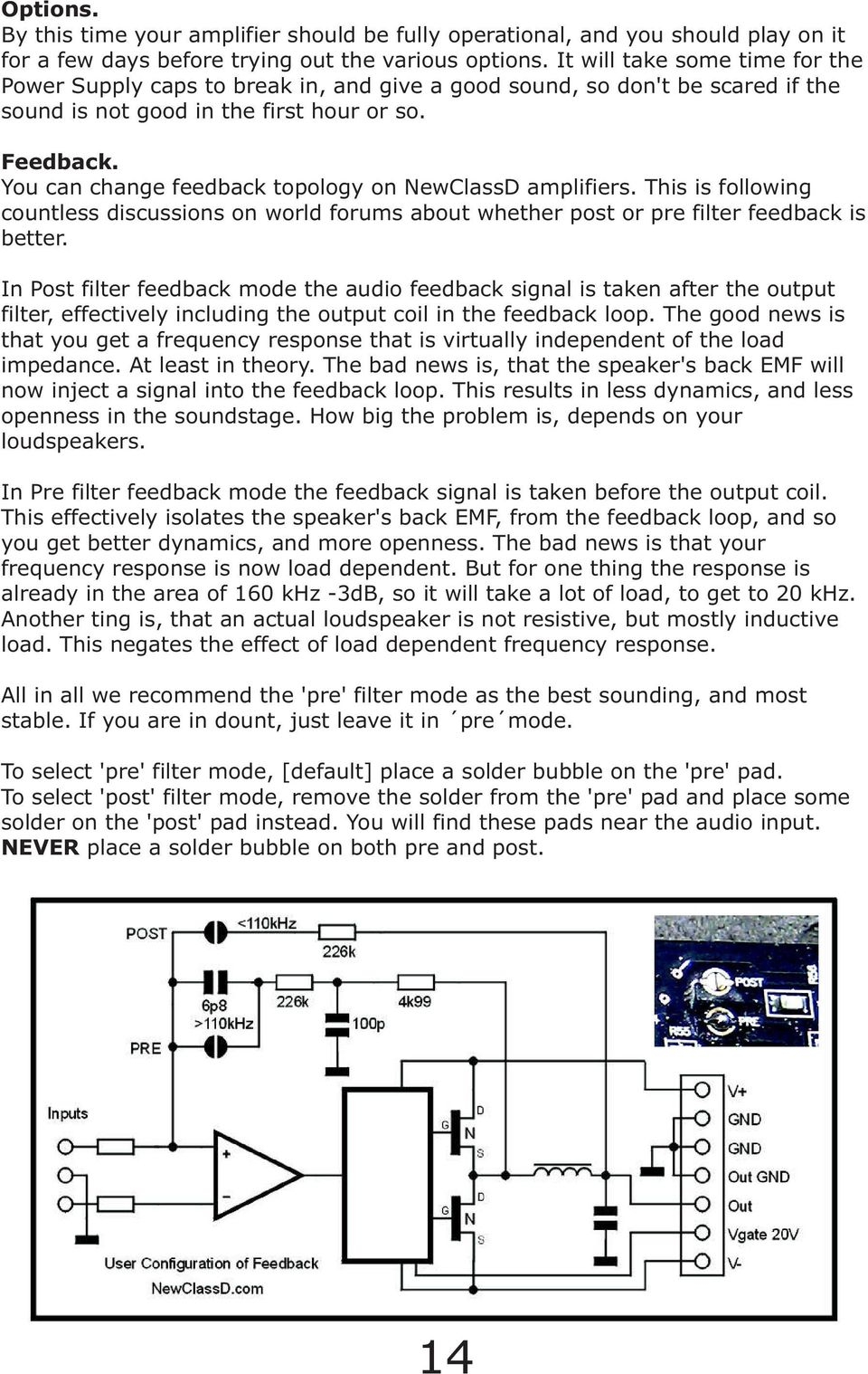 Newclassd Cookbook Ver Ncdx Advanced Class D Amplifier For Diy Tda7294 Audio Circuits P Marian You Can Change Feedback Topology On Amplifiers This Is Following Countless Discussions World