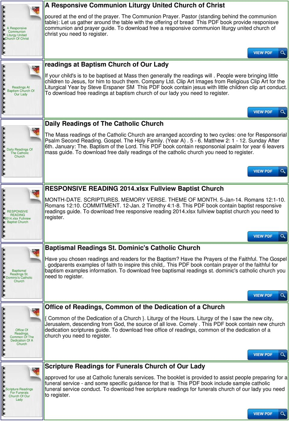 To download free a responsive communion liturgy united church of christ you  need to readings at