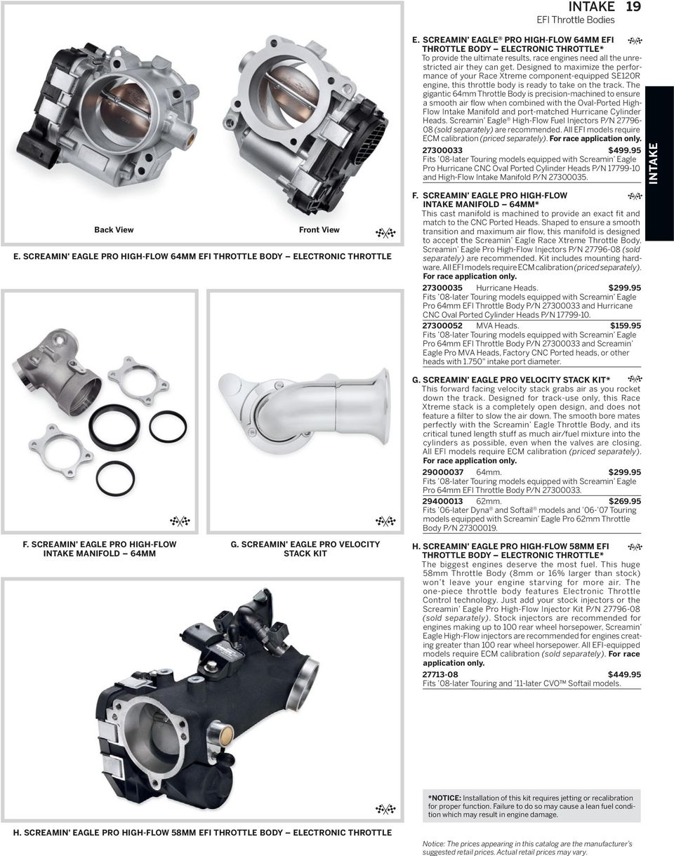 SCREAMIN EAGLE PRO RACING PARTS - PDF