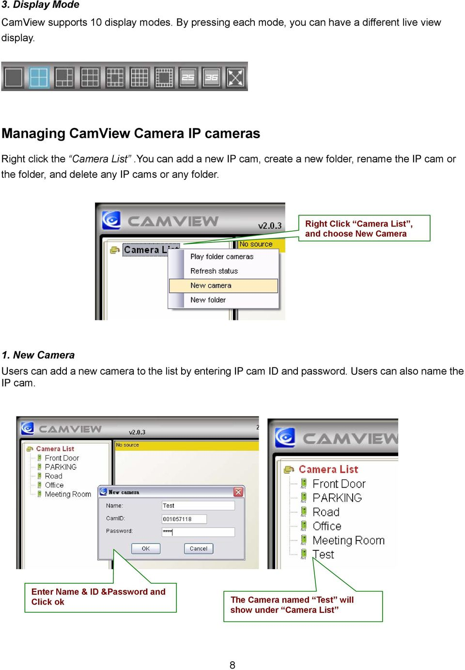 CamView User Manual For Easy Connection IP Cam Series - PDF