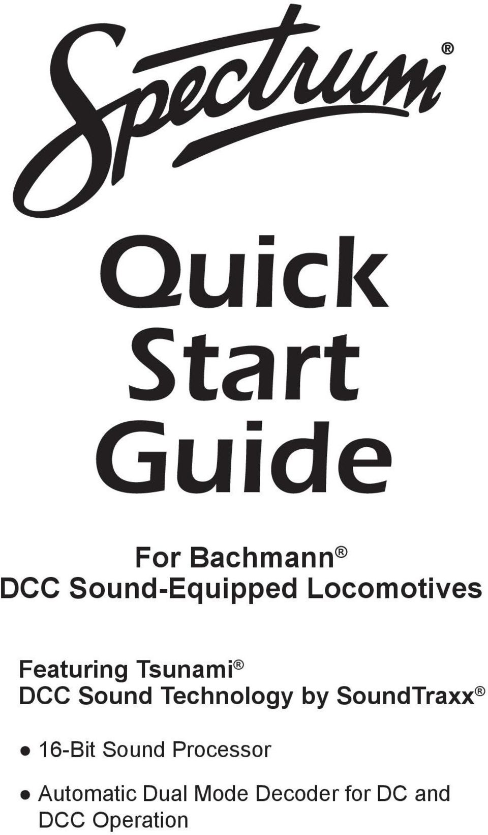 Bachmann Decoder Wiring Diagram Quick Start Guide For Dcc Sound Equipped Locomotives Technology By Soundtraxx 16 Bit