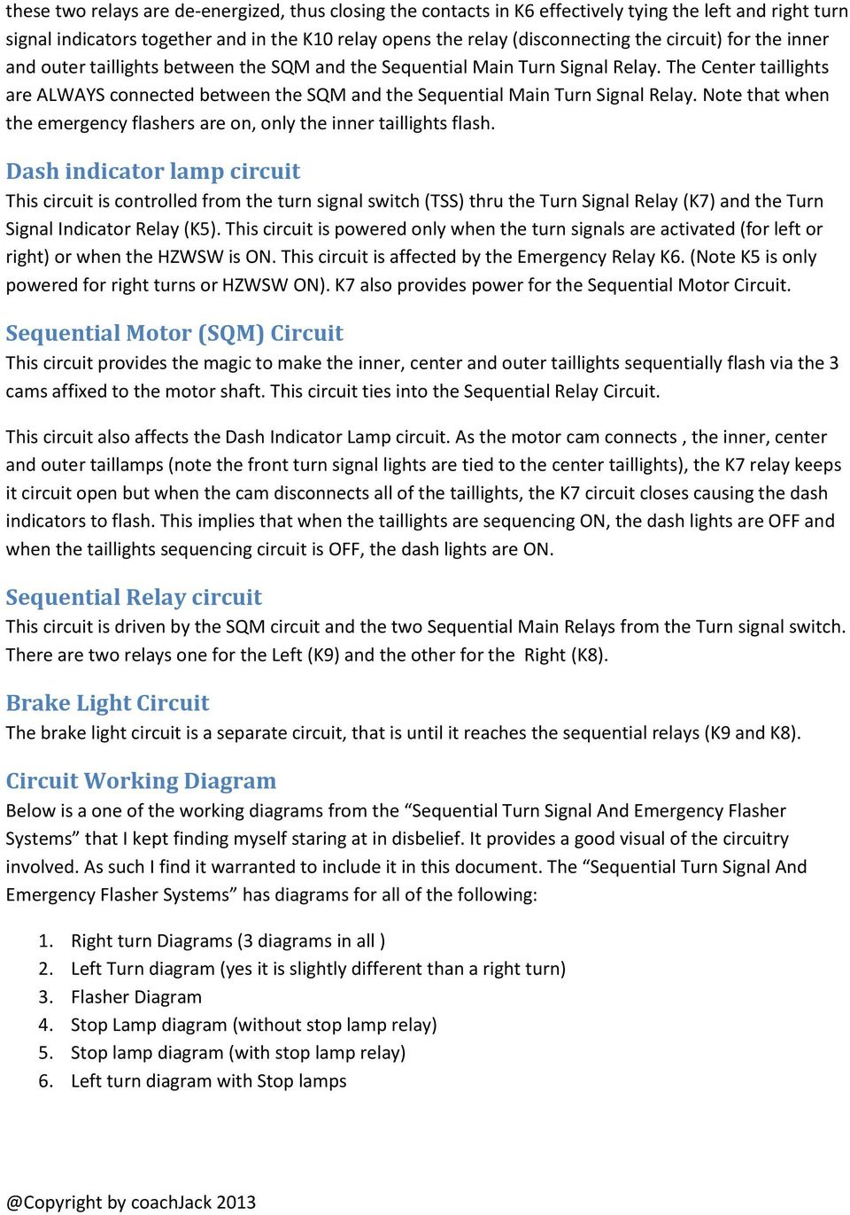 Everything You Wanted To Know About The 67 Cougar Sequential Brake Light Relay Wiring Diagram Center Taillights Are Always Connected Between Sqm And Main Turn Signal