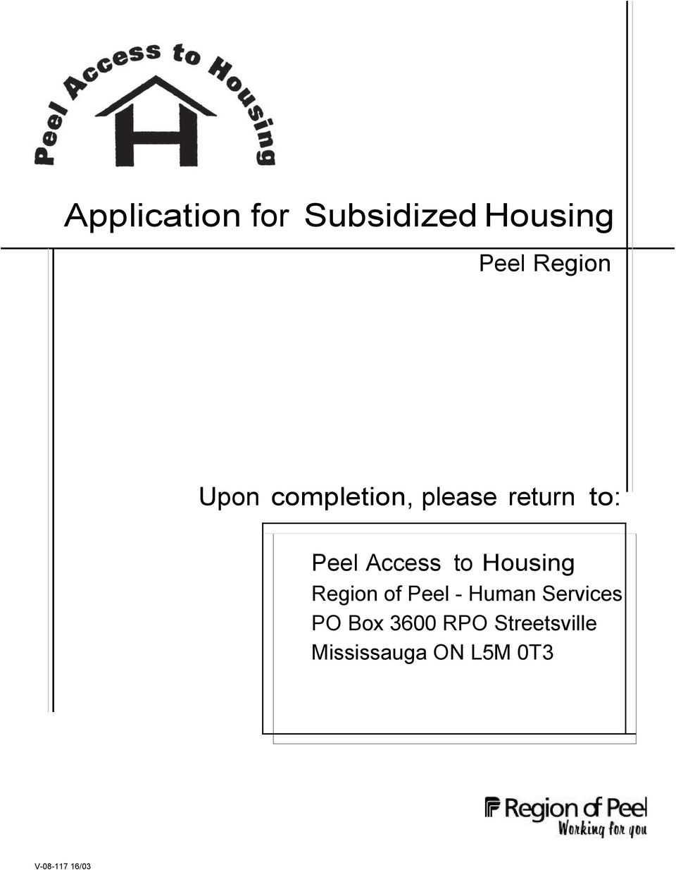 Application For Subsidized Housing Pdf Free Download