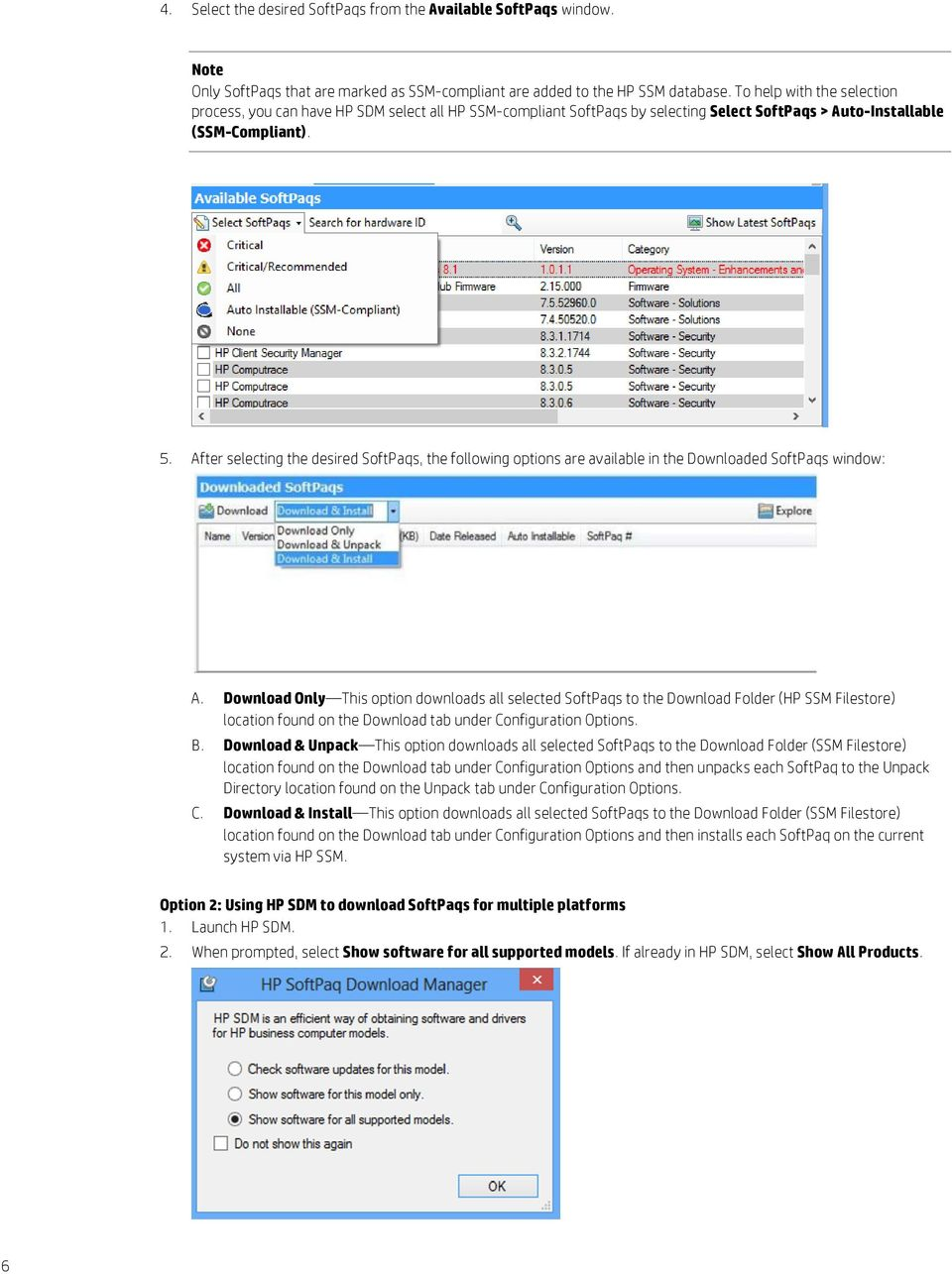 HP Softpaq Download Manager and HP System Software Manager - PDF