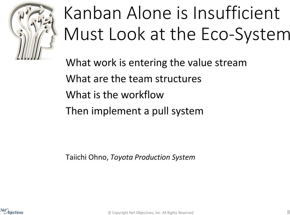 the Eco-System What work is entering the value stream What are the