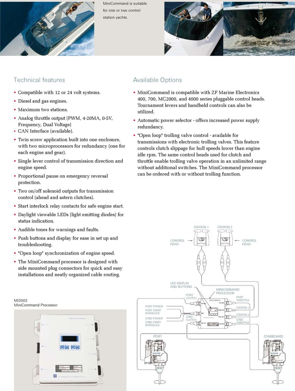 Marine Propulsion Systems Pdf Control Panel Safe Start Interlock Twin Screw Application Built Into One Enclosure With Two Microprocessors For Redundancy