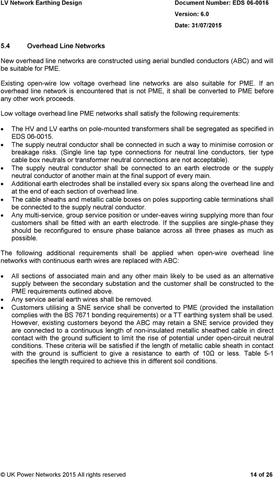 Eds Lv Network Earthing Design Pdf Pole Mount Transformer Wiring Diagram If An Overhead Line Is Encountered That Not Pme It Shall Be Converted