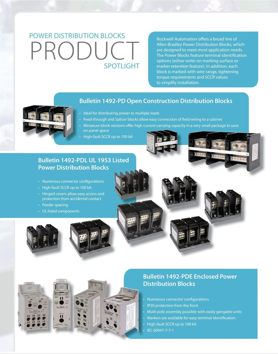 Terminal Blocks Power Distribution Make Your Wiring In Addition Each Block Is Marked With Wire Range Tightening Torque Requirements And Sccr