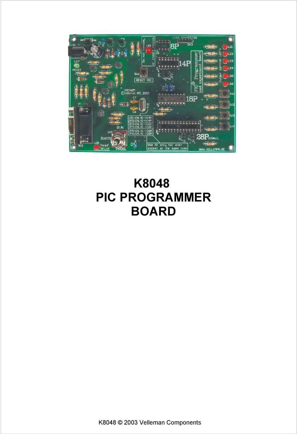 K8048 Pic Programmer Board Pdf Circuits Icsp In Circuit Serial Programming Based On Pic16f84 1