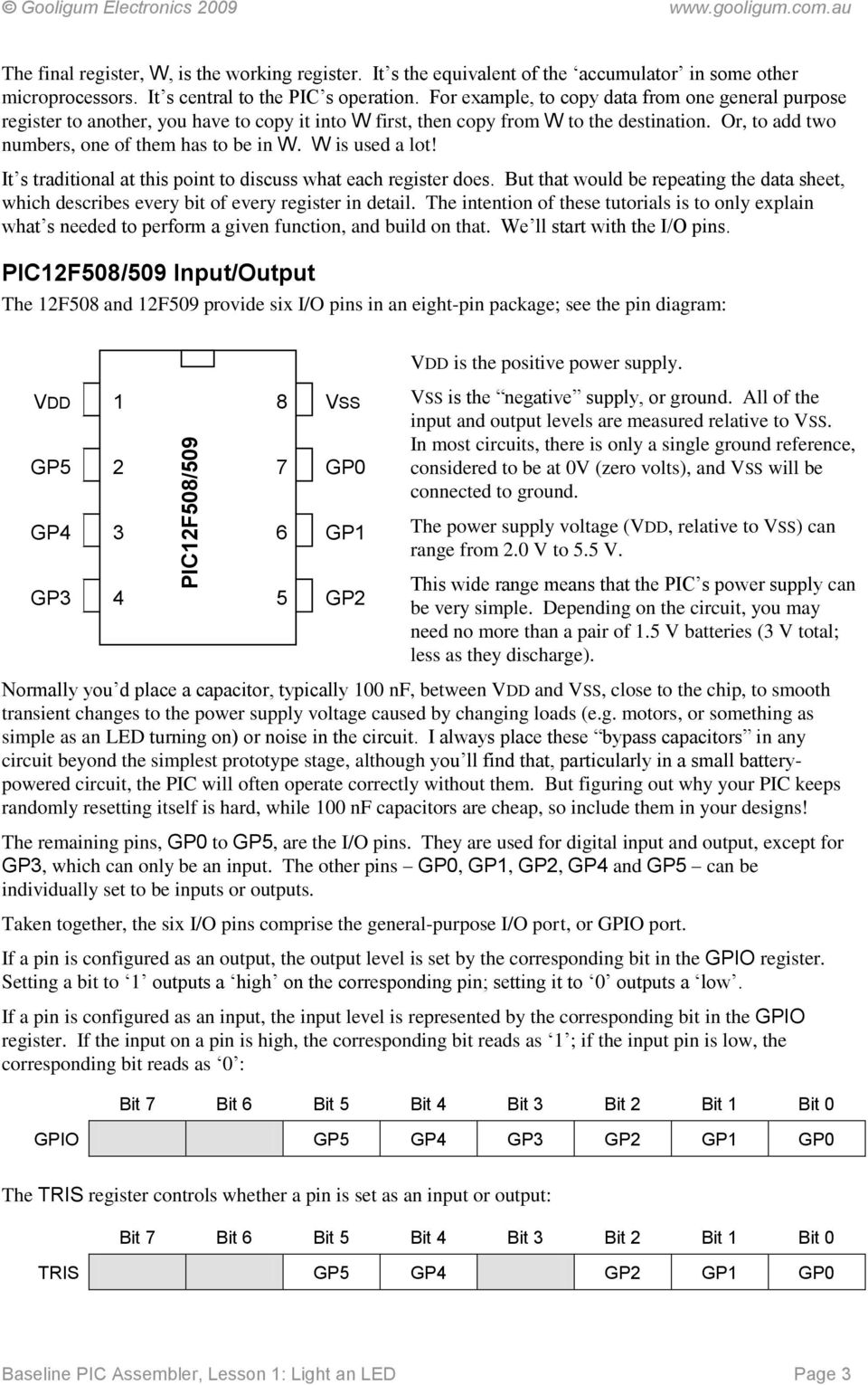 Introduction To Pic Programming Pdf Figure 1 Pic18f452 Led Blinking Circuit Or Add Two Numbers One Of Them Has Be In W