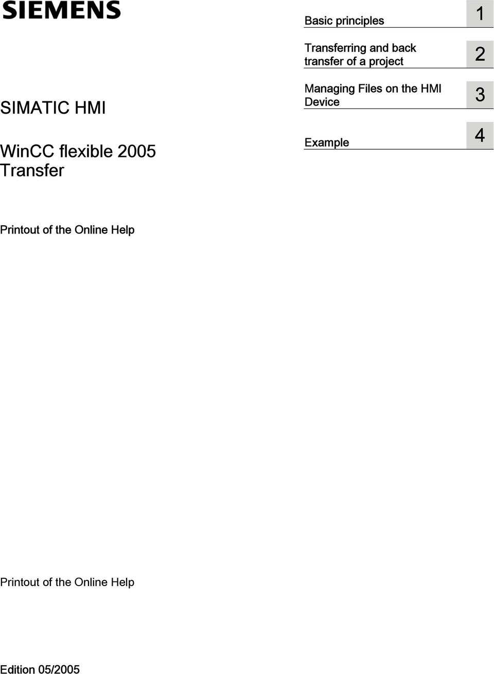 2 Managing Files on the HMI Device 3 Example 4 Printout of