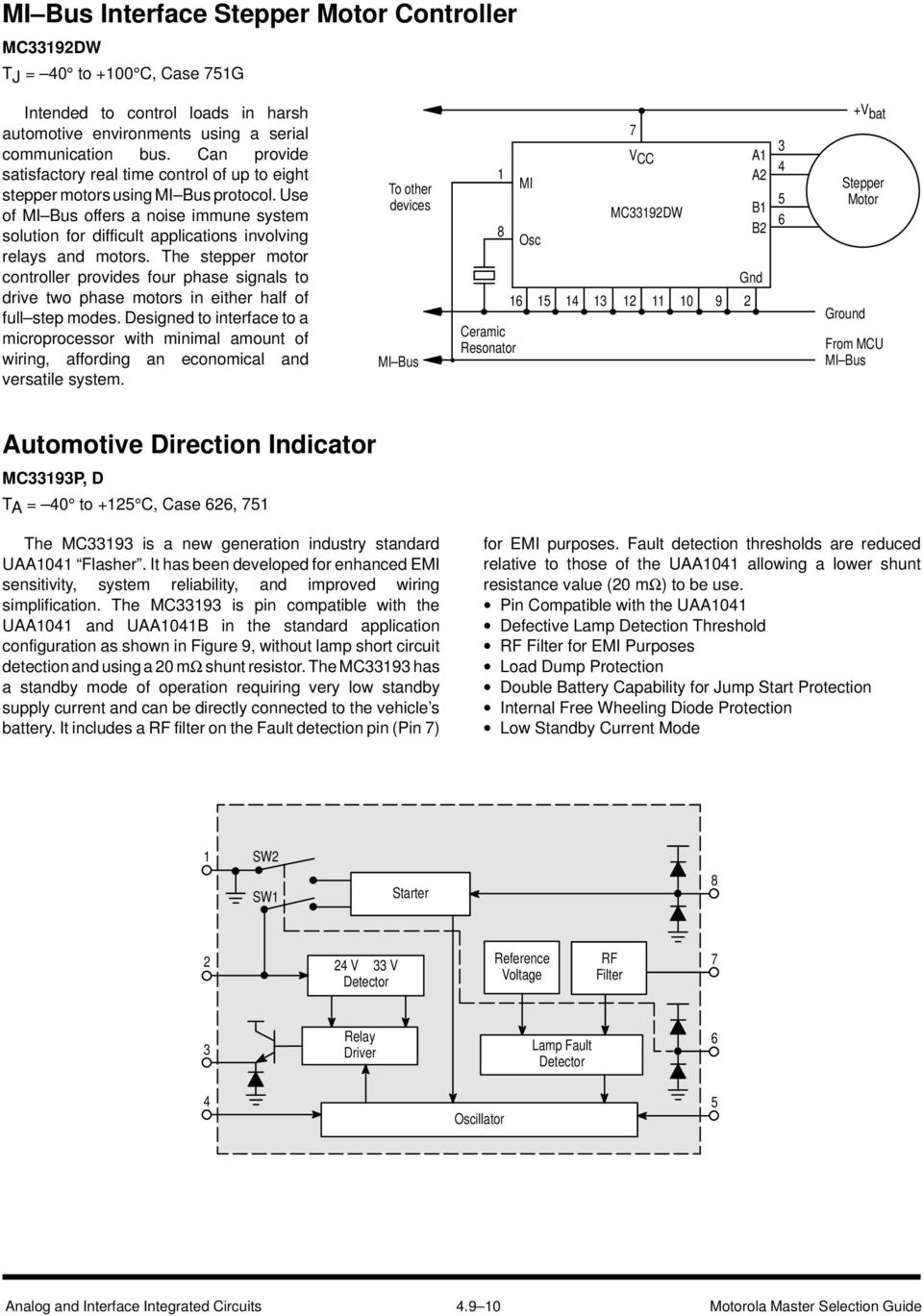 Automotive Electronic Circuits Pdf Uses Of Integrated Use Mi Bus Offers A Noise Immune System Solution For Difficult Applications Involving Relays And