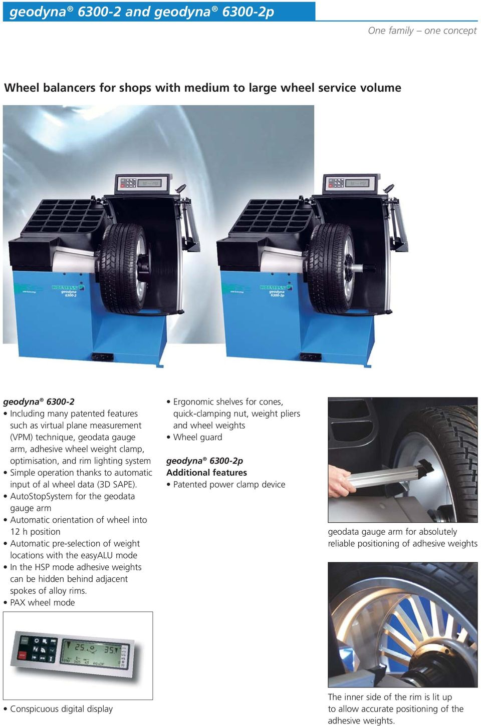 AutoStopSystem for the geodata gauge arm Automatic orientation of wheel  into 12 h position Automatic pre
