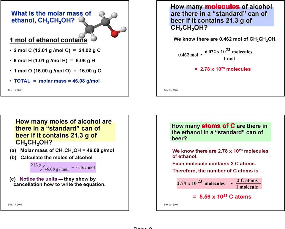 MOLAR MASS AND MOLECULAR WEIGHT Themolar Mass Of A Molecule Is The