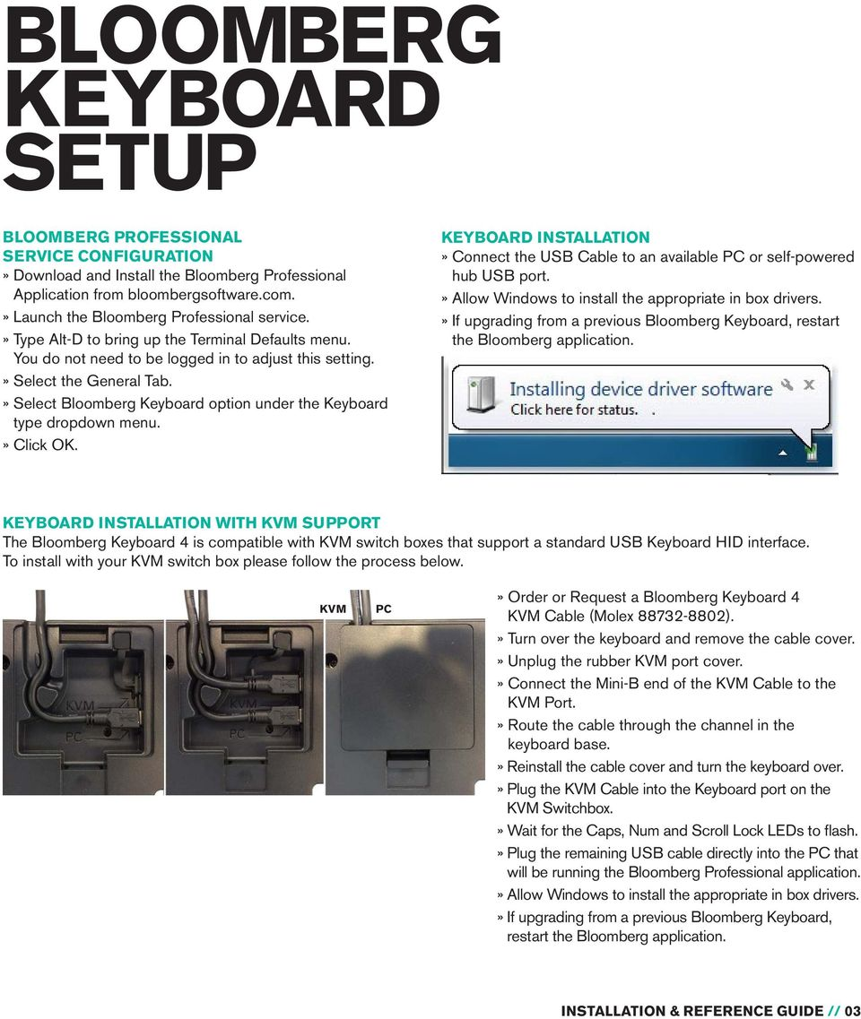 Bloomberg Keyboard 4 Pdf Parts Of A Computer Diagram For Kids Kvm Connections Select Option Under The Type Dropdown Menu Click Ok