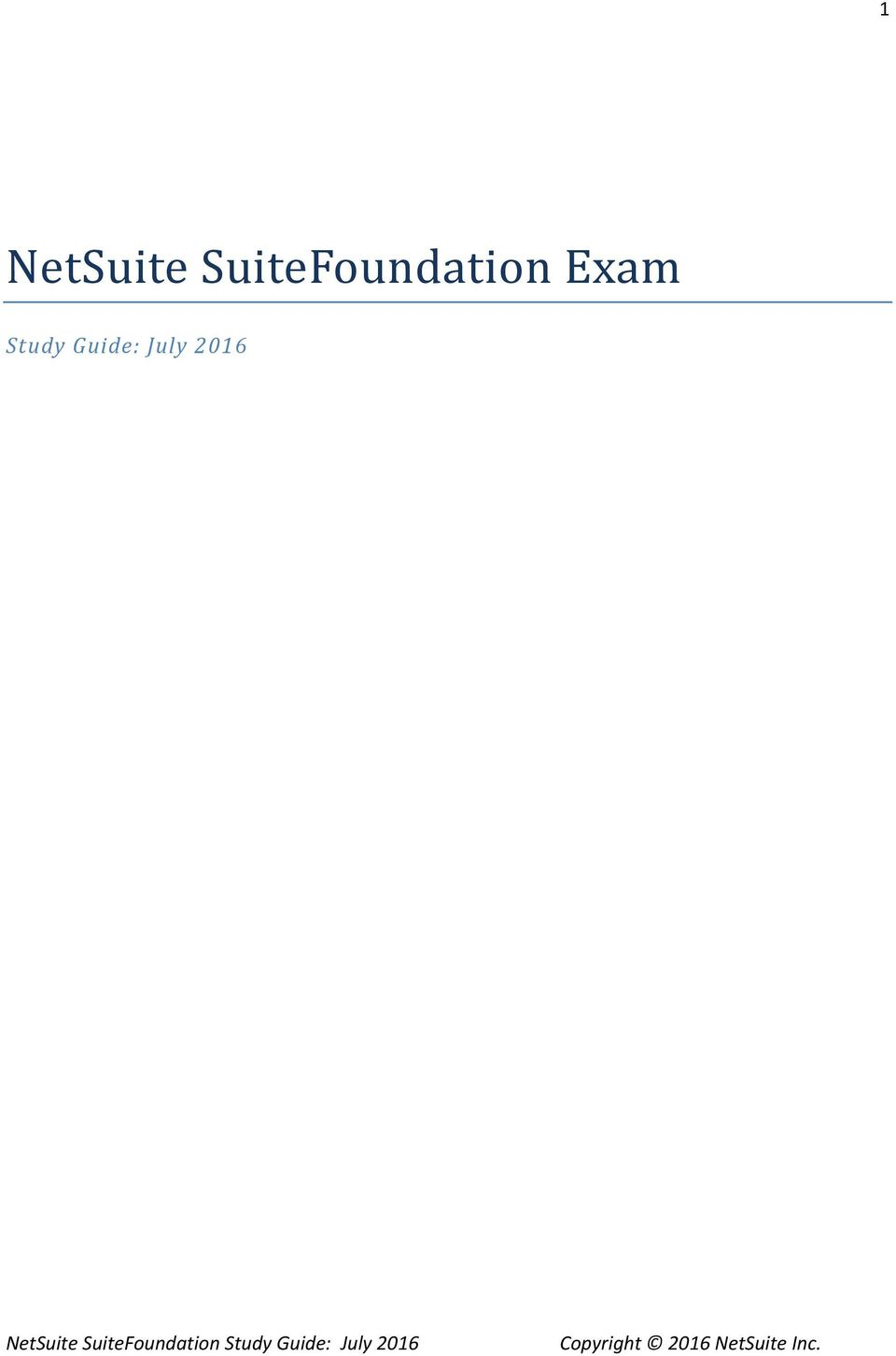 NetSuite SuiteFoundation Study Guide July PDF Free Download