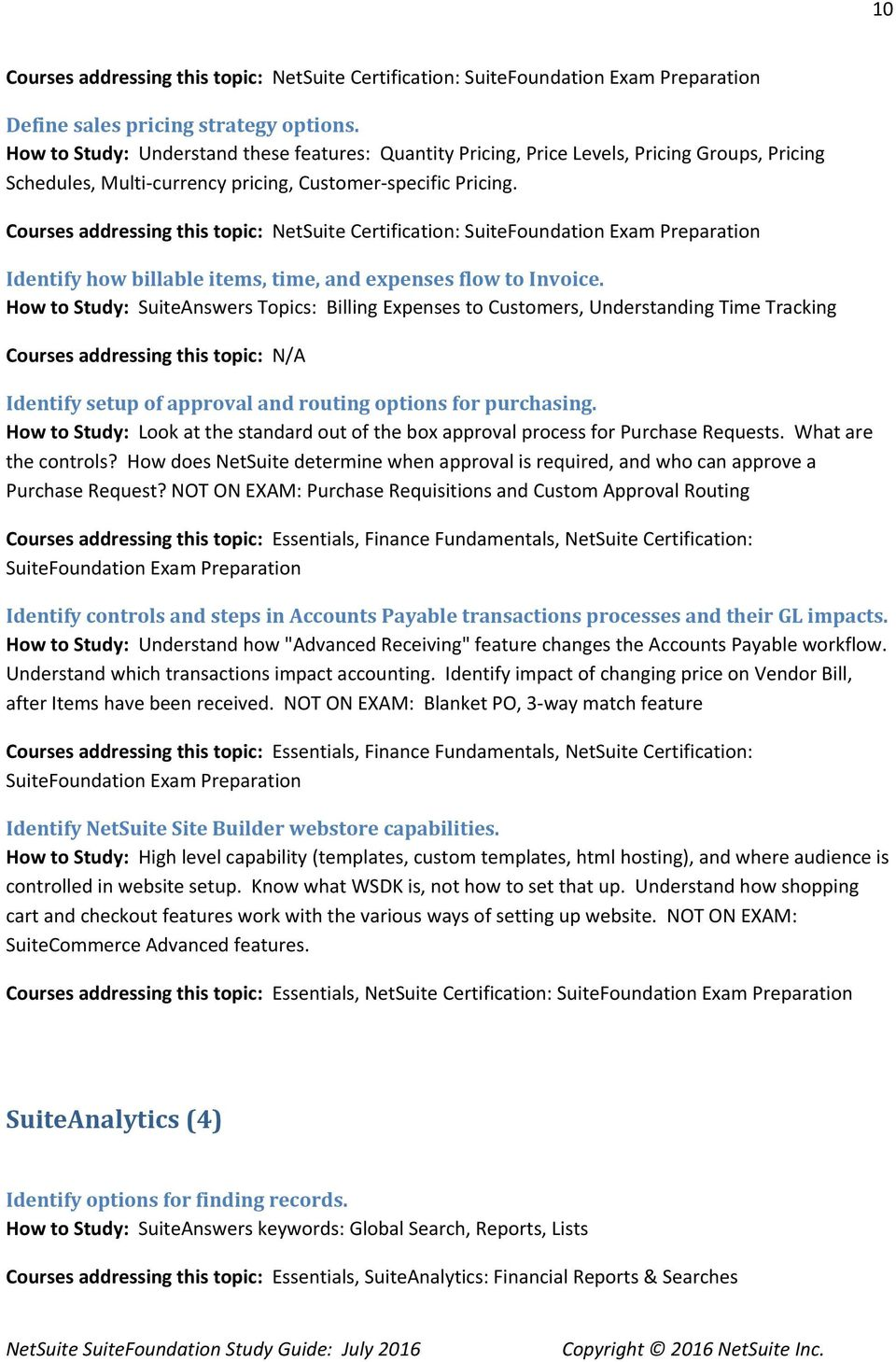 Netsuite Suitefoundation Study Guide July Pdf