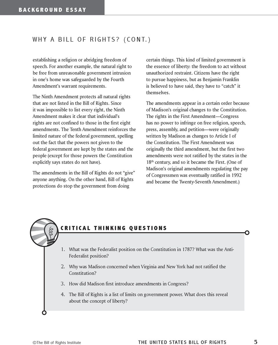 bill of rights the united states how does the bill of rights